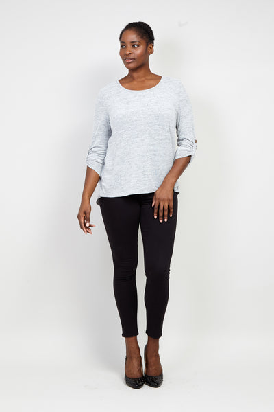 Curve Relaxed Round Neck T-Shirt - Izabel London