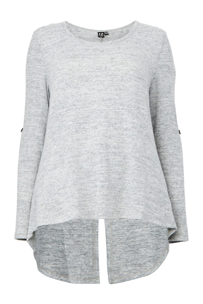 | Curve Relaxed Round Neck T-Shirt | Izabel London