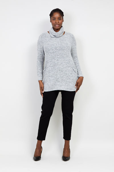 Curve Knitted Jersey Top - Izabel London
