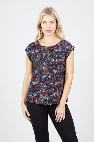 Ditsy Floral Shell Top - Izabel London