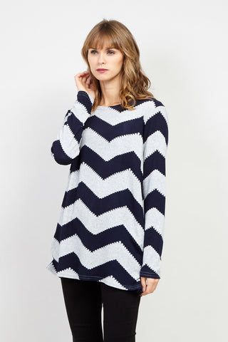 Plus Size Split Shoulder Striped Batwing Top