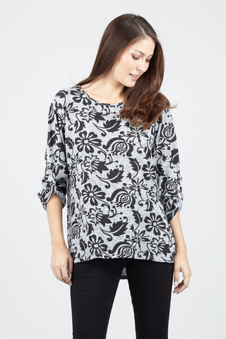 Floral Asymmetric Top