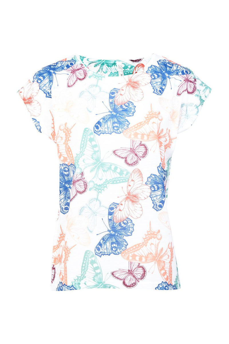 Butterfly Print T-shirt - Izabel London