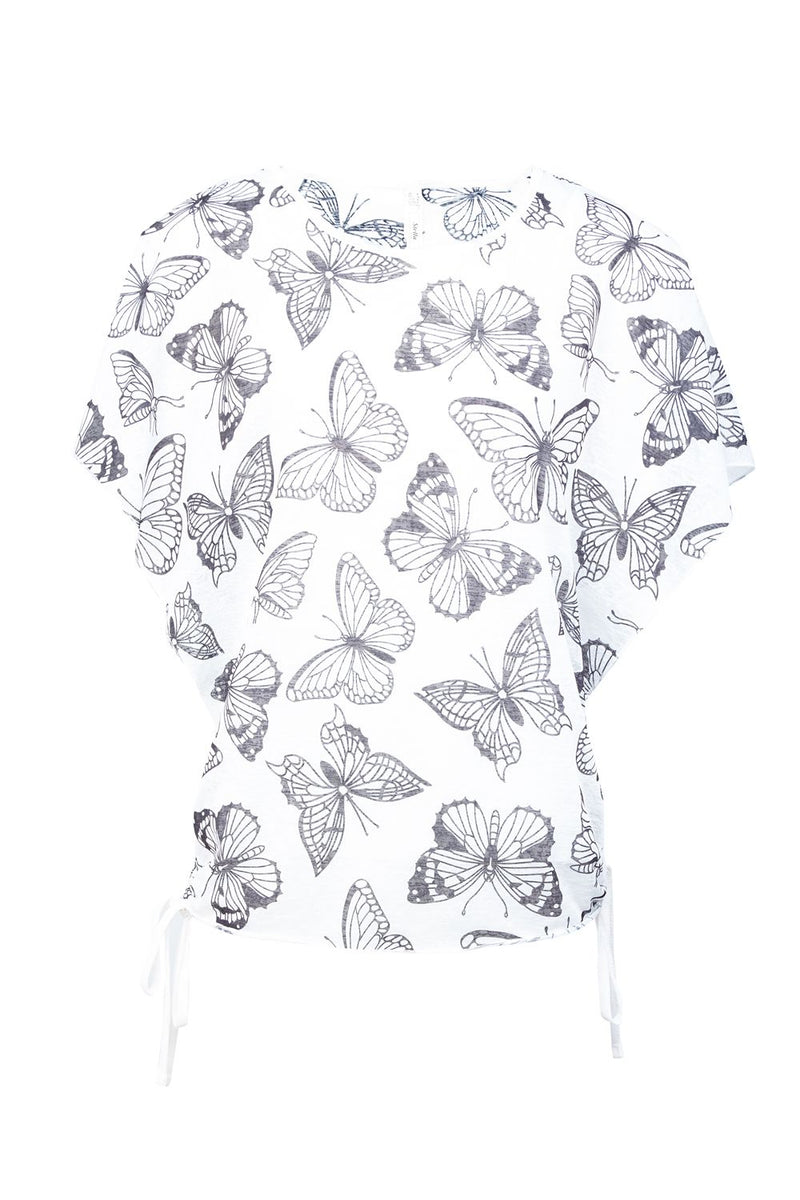 White | Butterfly Casual T-Shirt