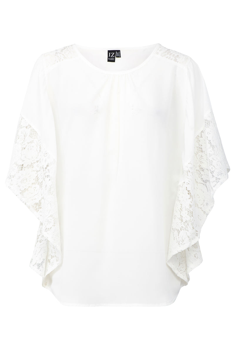White | Lace Sleeve Top