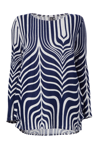 Sheer Stripe Batwing Top