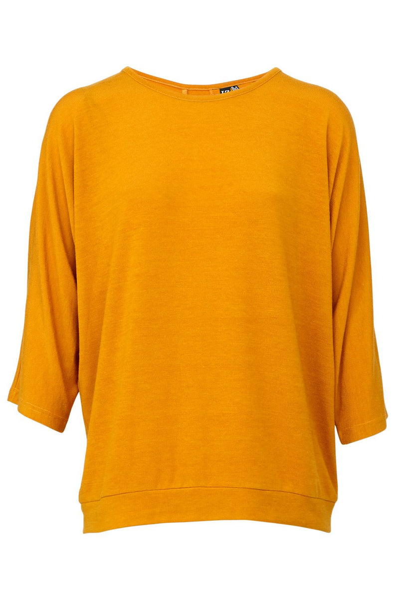 Yellow | Oversized Button Detail Top