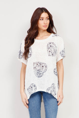 Button Front Tunic Top