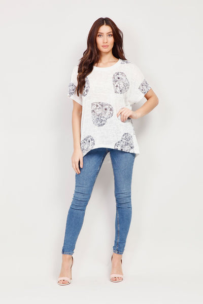 Tribal Heart Print Tee - Izabel London