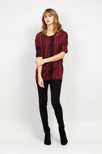 Animal Print Oversized Jumper - Izabel London