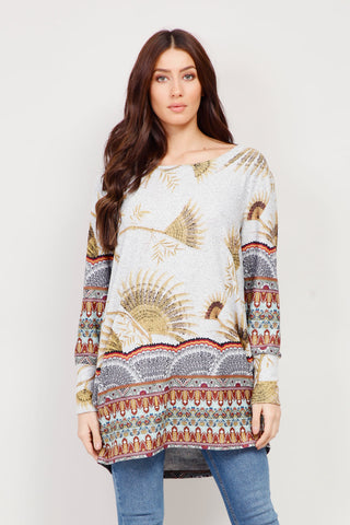 Animal & Marl Jumper