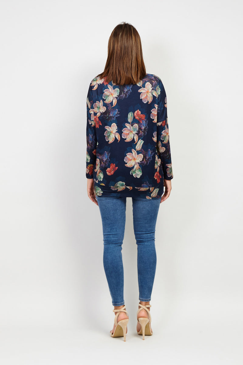 Floral Long Sleeve Jumper - Izabel London