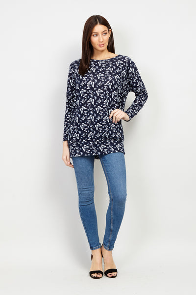 Navy | Butterfly Print Sweater