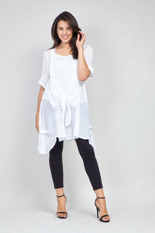 Trim Detail Batwing Top