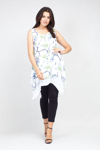 Curve Flower Tunic Top