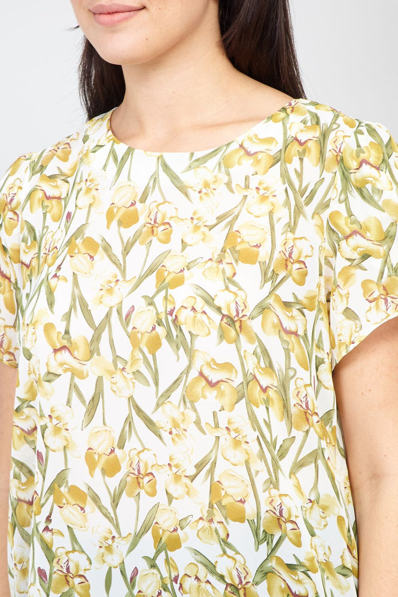 White | Curve Spring Floral T-Shirt
