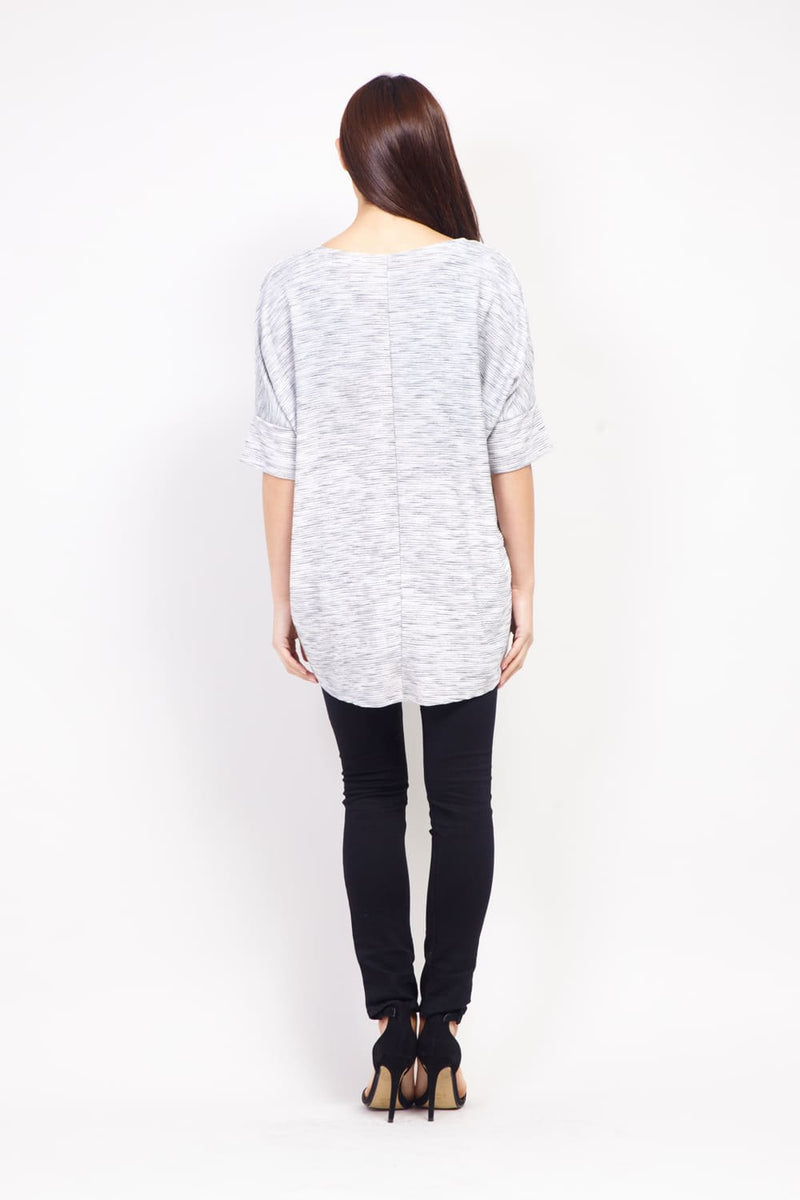 Dip Back Longline Top - Izabel London