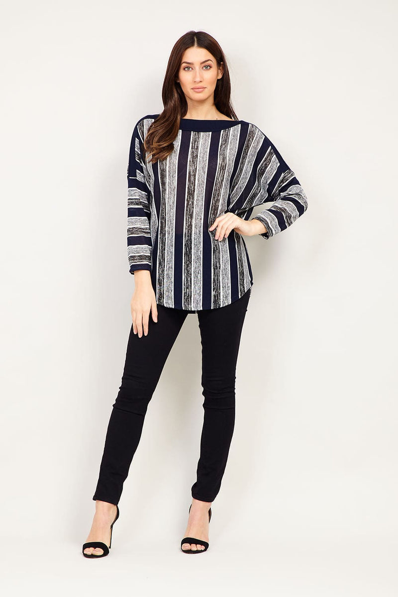 2051ad1caf Striped Oversized Top