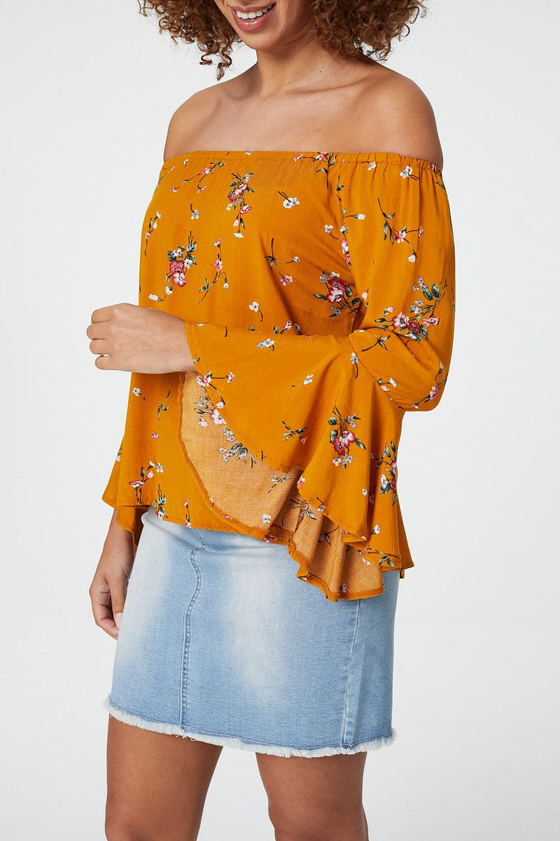 81ac0b4036054 Floral Print Off The Shoulder Blouse – Izabel London