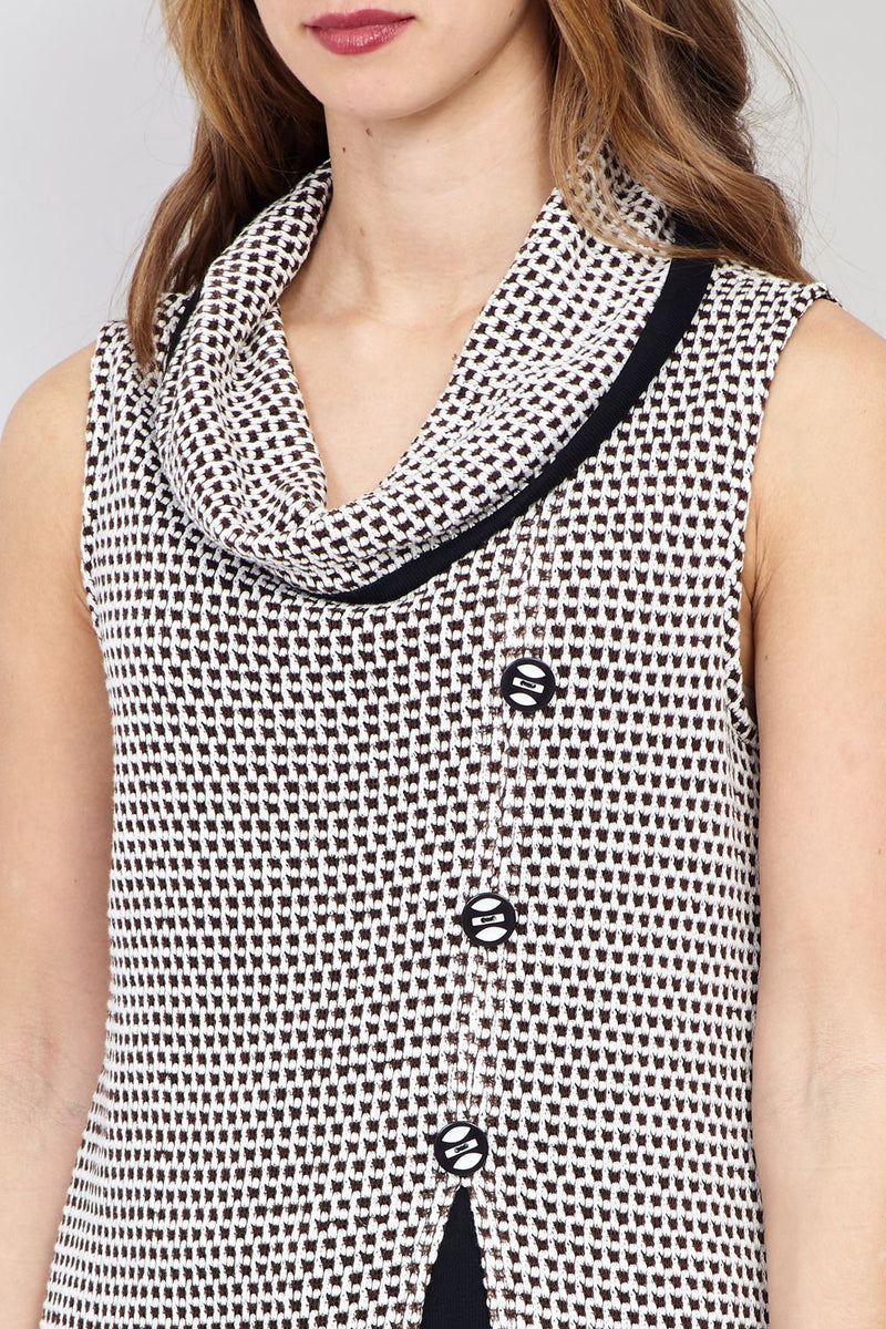 Black And White | Button Front Tunic Top