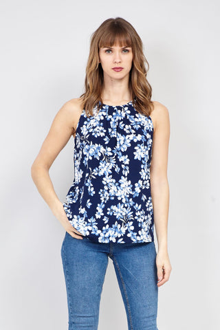 Floral Turn-Up Sleeve Top