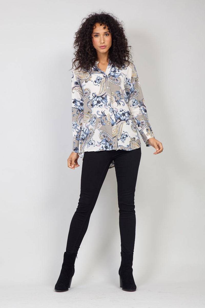 Stone | Floral Button Up Blouse