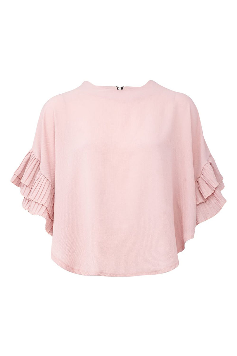 Pink | Fluted Sleeve Blouse