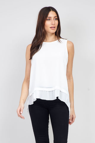 Plus Size Mesh Top With Horizontal Stripe Texture