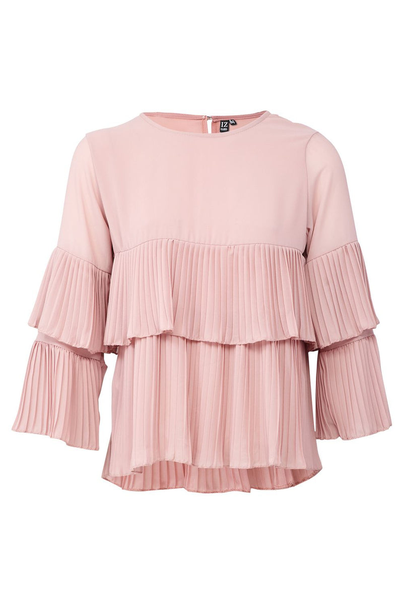 Pink | Ruffle Sleeve Layered Blouse