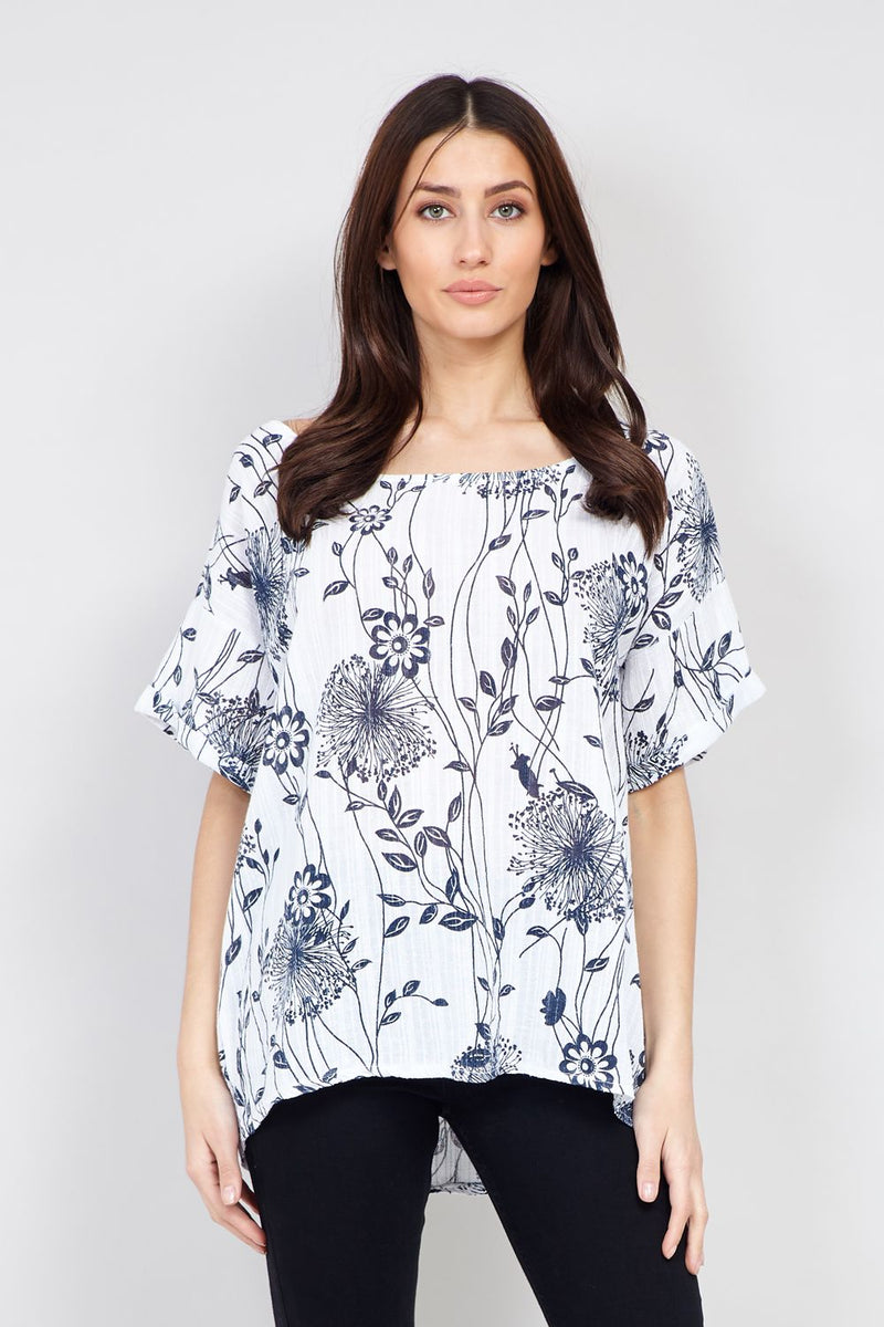 Floral Lightweight Tee - Izabel London