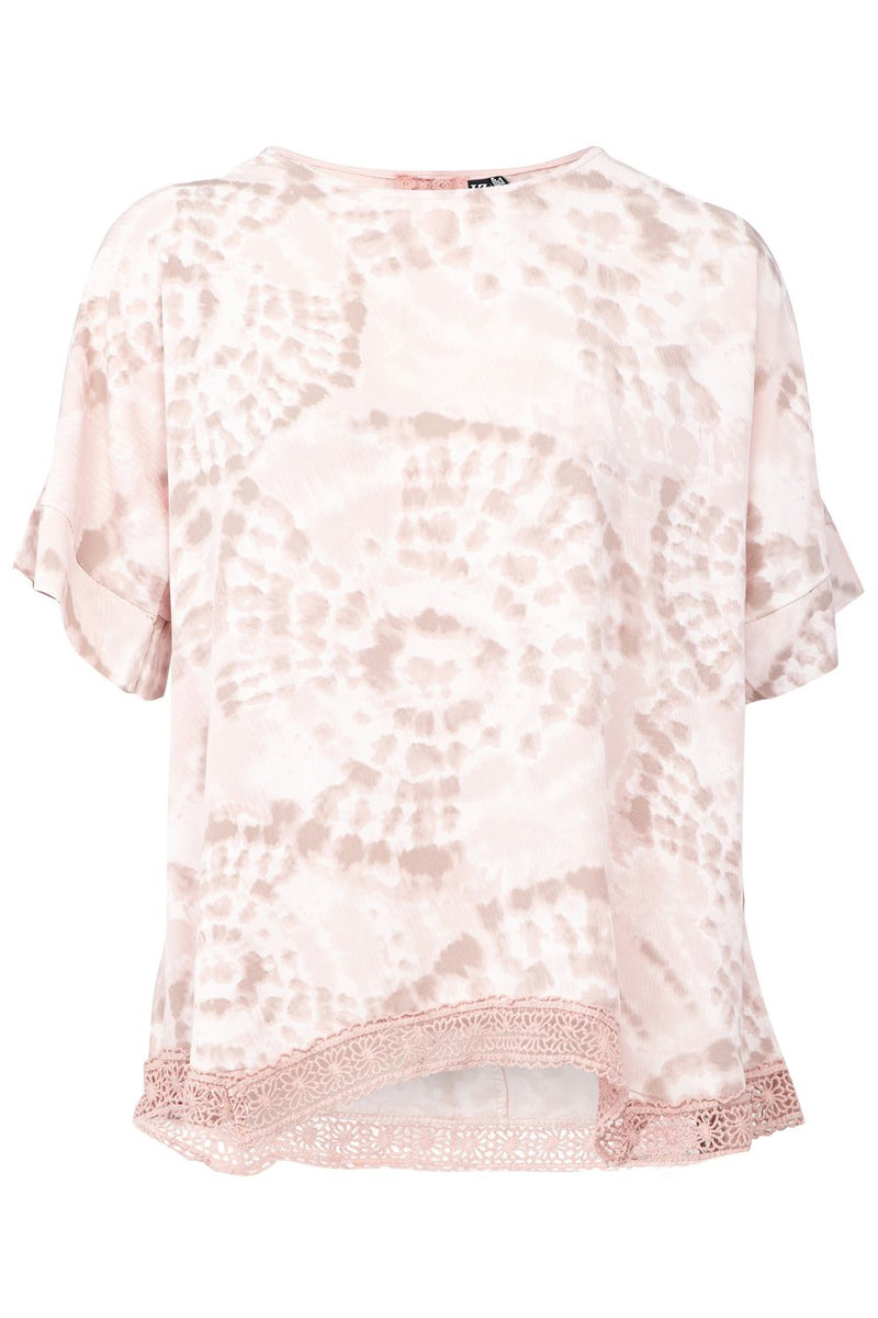 Pink | Tie Dye Drop Shoulder Top