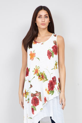 Floral Layered Hem Dress