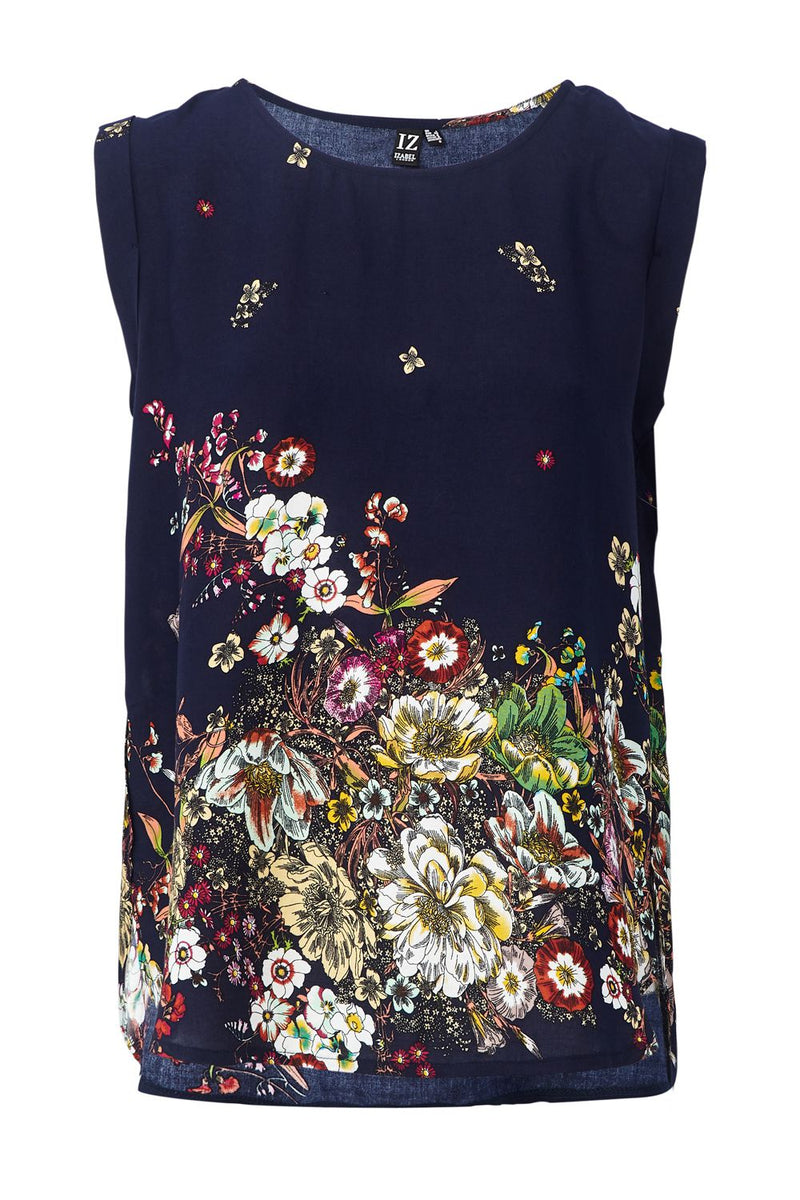 Navy | Botanical Floral T-Shirt
