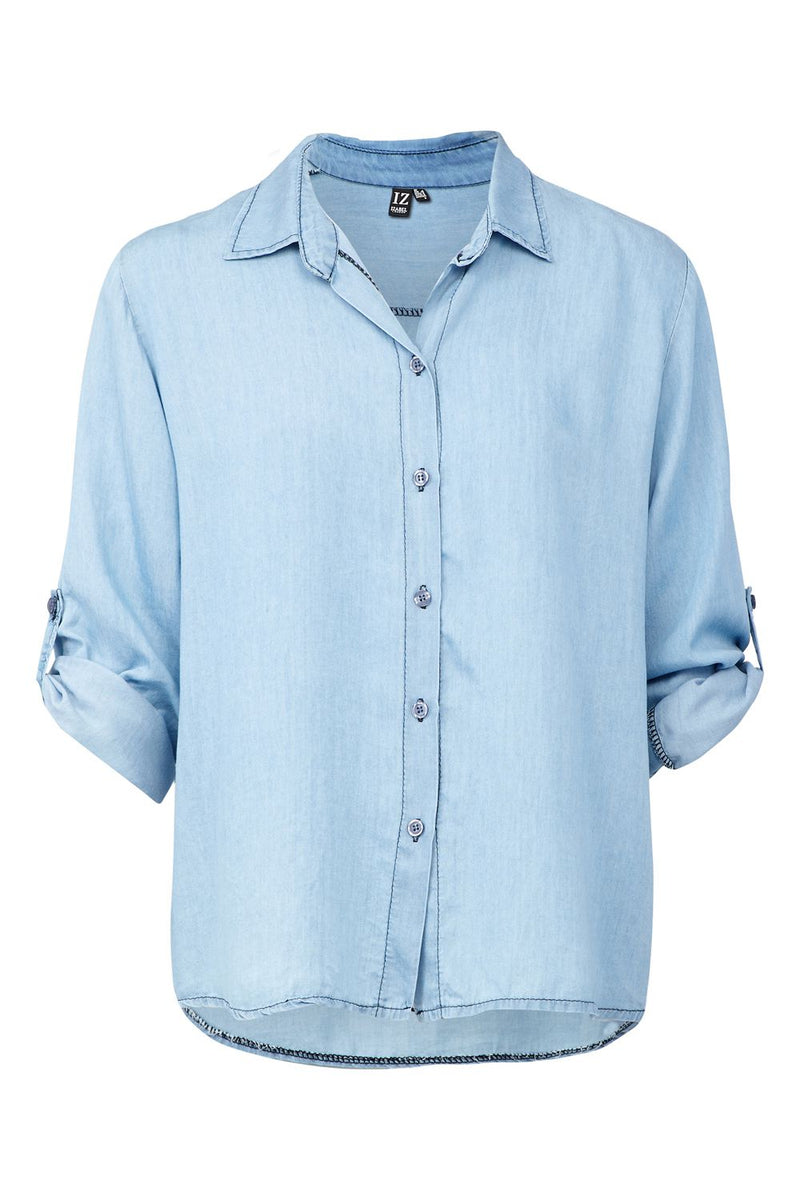 Blue | Denim Boxy Shirt