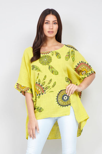 Eastern Print Top - Izabel London