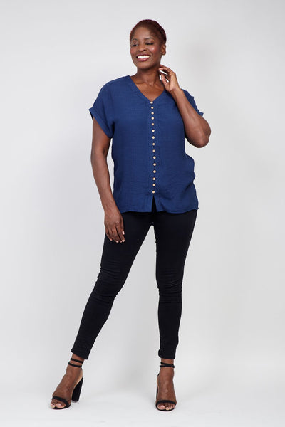 | Curve Button Front Top | Izabel London