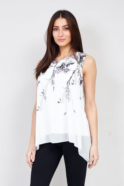 Floral Layered Vest - Izabel London
