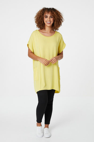 Oversized Longline Tunic Top - Izabel London