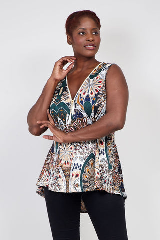 Plus Size Cold Shoulder Batwing Top