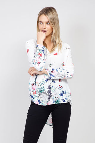 Lace Peplum Floral Top