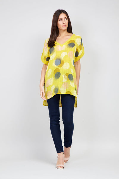 | Polka Dot Longline Top | Izabel London