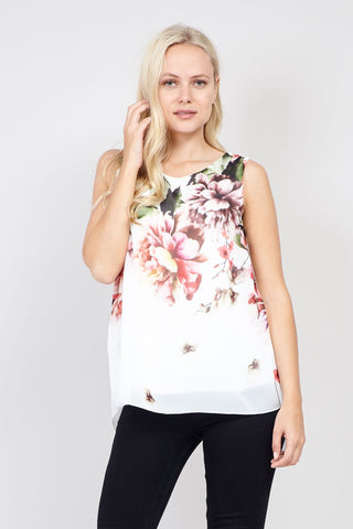 Damask Sheer Top
