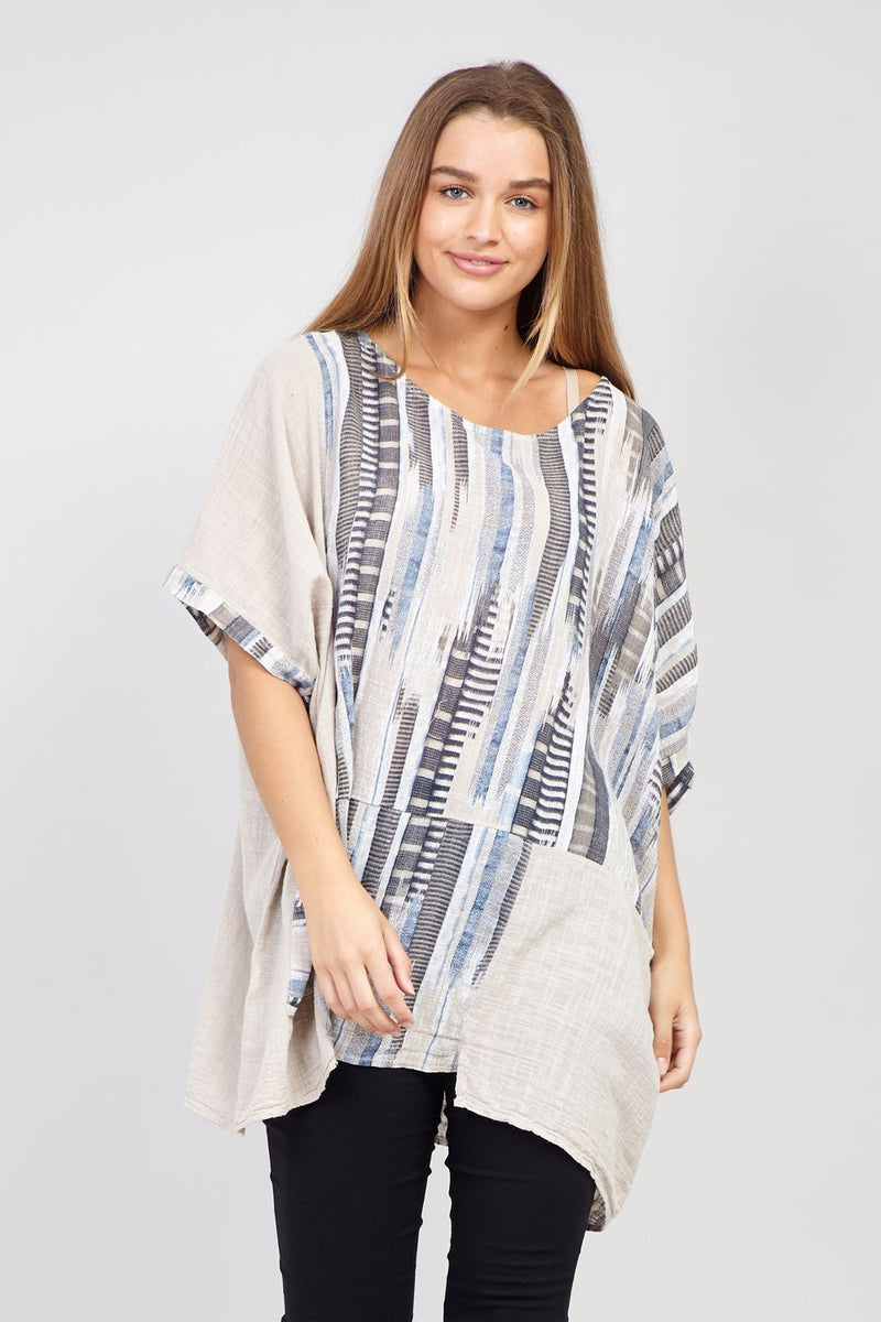 Stone | Abstract Print Top