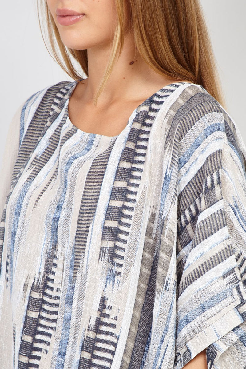 Beige | Abstract Print Top