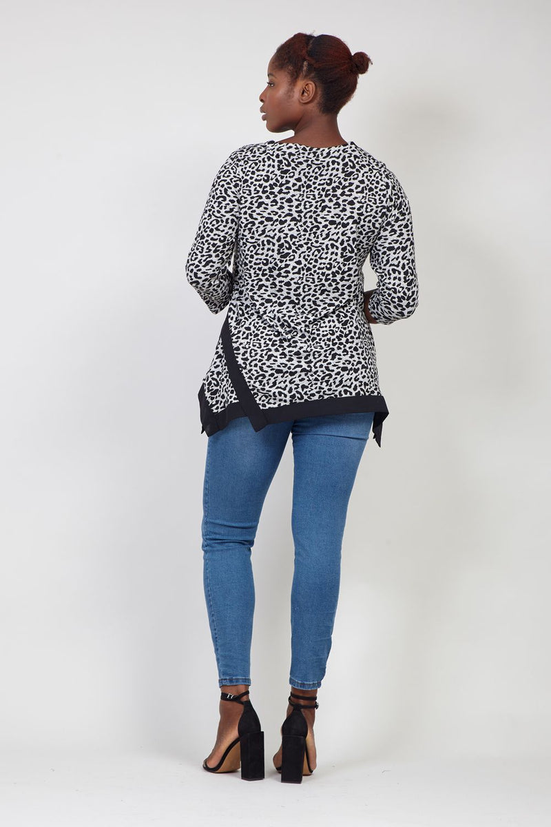 Grey | Animal Print T-Shirt