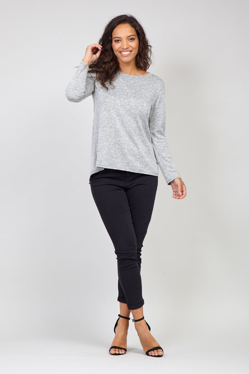 Grey | Marl Grey Knit Jumper