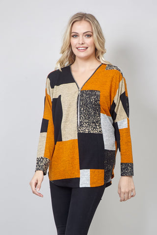 Curve Dragonfly Print Sweater