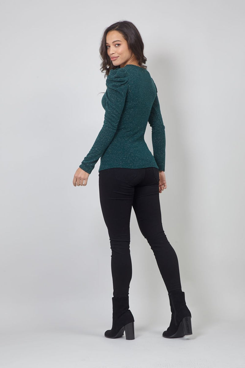 Green | Puff Sleeve Jumper