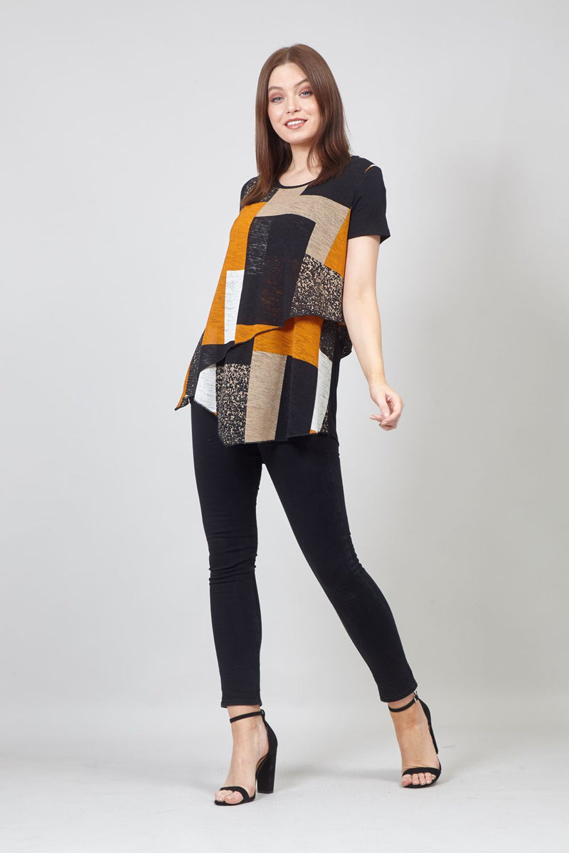 Mustard | Colour Block Layered Top