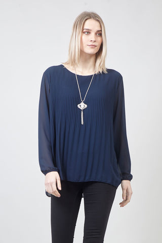 Colour Block Layered Hem Top